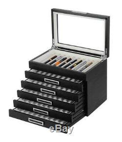 6 Layer 60 Pen Wood Box Display Storage Wooden Large Fountain Pen Case 314060-R