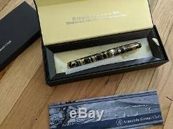 Asc Armando Simoni Club Bologna Black Lucens Celluloid Ltd Ed Fountain Pen