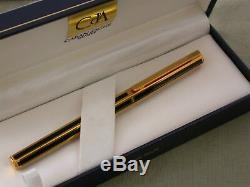 CARAN d' ACHE GP HEXAGONAL / CHINESE BLACK LACQUER / FP / BOX / M 750 18C NIB EX