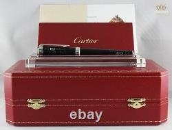 Cartier Limited Edition China Inspiration Black Lacquer Palladium Fountain Pen