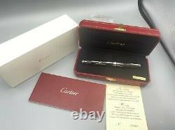 Cartier Louis ROMAN NUMERALS Fountain Pen Limited Edition 18K Med Nib NEW Y2008