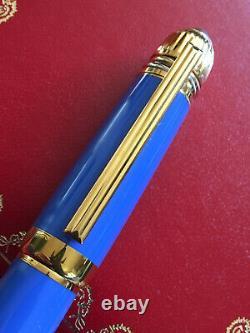 Cartier Pasha European Blue Lacquer Fountain Pen