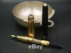 Cartier Pasha Vermeil and Black Precious Resin Fountain Pen Pristine