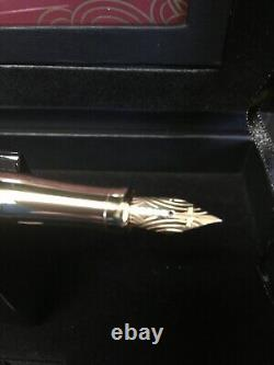 Cross Sauvage 2014 Year Of The Horse Imperial White Lacquer Fountain Pen F Nib