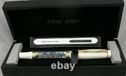 Danitrio Brillante Limited Edition White & Abalone Fountain Pen In Box #81/300