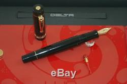 Delta Dolce Vita WE (What Else) Fountain Pen Black Resin with Lucky Chilli.