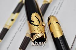 LOUIS CARTIER Dandy Black Lacquer Gold Foils Limited Edition 491/1847 FP M 2005