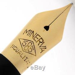 MINERVA OMAS Black OVERSIZED Vintage Fountain Pen 1940's NICE WRITER