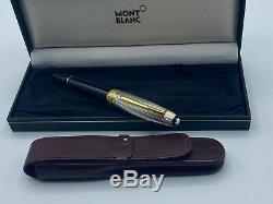 MONTBLANC 146 DS LeGrand Fountain Pen Doue Sterling Silver 18K nib +case Boxed