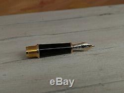 MONTBLANC Meisterstuck Black 14K Gold Nib Lower Section PartFor 144 Fountain Pen