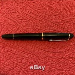 MONTBLANC Meisterstuck LeGrand Black Fine 14K Gold Nib (F) Fountain Pen 13660