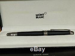MONTBLANC Meisterstuck Solitaire Ultra Black M 18K Nib 145 Fountain Pen, MINT