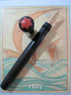 MONTBLANC No. 12 ROUGE et NOIR Goliath Black Hard Rubber Safety Filler FP
