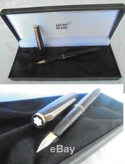 MONTBLANC PENNA STILOGRAFICA RESINA NERA ANNI'50+ SCATOLA Black Fountain Pen