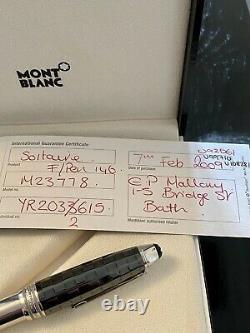 Mont Blanc Meisterstuck Legrand Solitaire Ceramics Black Prisma FP Retail £1180