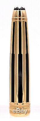 Mont Blanc Meisterstuck Solitaire Doue Gold & Black Fountain Pen Nib M