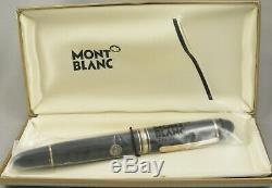 Montblanc 149 Black & Gold Fountain Pen in Box 1980's 14kt Medium Nib