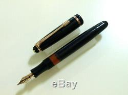 Montblanc 242 G Piston Fountain Pen In Black Vintage