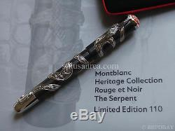 Montblanc Artisan The Serpent 110 Heritage Collection Rouge Et Noir Limited Pen