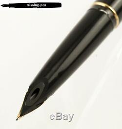 Montblanc Classic Piston Fountain Pen No. 320 in Black-Gold with 14 K M-nib