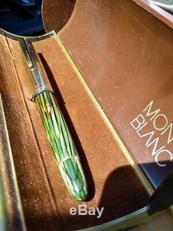 Montblanc Masterpiece 644 N Green Striped Fountain Pen 14k NIB