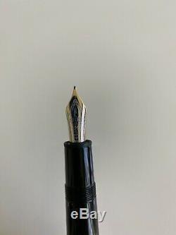 Montblanc Meisterstück 146 Fountain Pen. Black/Gold. Fine. USED. Excellent