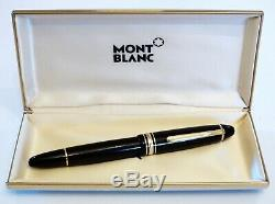Montblanc Meisterstuck 146 Le Grand Fountain Pen In Black & Gold 14k Gold F Nib