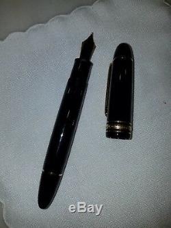 Montblanc Meisterstuck 18k gold tip149 Black & Gold Diplomat Fountain Pen
