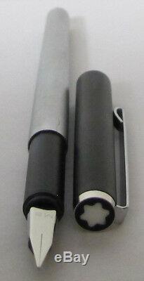 Montblanc Noblesse Slimline Vintage Black & Silver Fountain Pen Med Pt New