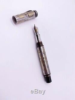 Montegrappa Animalia silver fountain pen