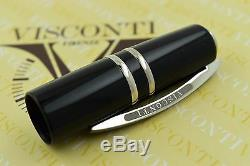 NEW Visconti Homo Sapiens Elegance Black Palladium Oversize Fountain Pen M Nib