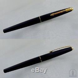 NOS Extremely Rare Parker 45 TX Matte BLACK GT Fountain Pen F Nib UK Q1 1994