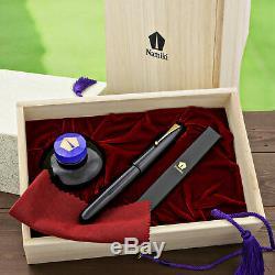 Namiki Emperor Urushi Collection Fountain Pen Black Fine Medium Point NEW