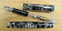 New Conway Stewart Black Translucent DANDY LE 178/500 Ftn Pen FINE 18k Nib