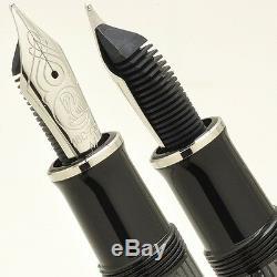 New M805 Silver Trim Black Stripe SOUVERAN Fountain Pen 18K Gold Nib ER, F, M, B