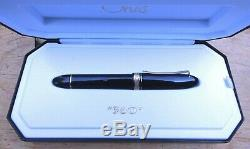 New OMAS 360 Black Gold Trim Fountain Pen MEDIUM 18k Nib 75th Anniversary