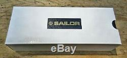 New Sailor SAPPORO Professional Gear Black Silver Trim FINE 14k nib Fountain Pen