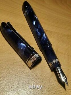 OMAS 360 Prototype Blue Royale Celluloid Fountain pen 18kt nib