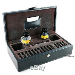 OMAS Black Paragon Fountain Pen with15 Gold Nib Set Ink & Nib Cleaner Included