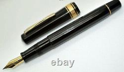 OMAS Milord Black (c. 1980s) fountain pen. PISTON. EXCELLENT. FULLY SERVICED