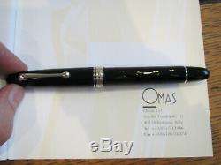 OMAS Ogiva Black guilloche Fountain pen Extra-Fine 18kt nib MIB
