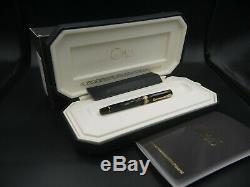 OMAS Special Edition 1930 Arte Italiana Fountain Nib 18K M Black with Solid Gold