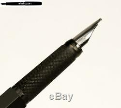 Old Rotring 600 Cartridges Fountain Pen in Black with Knurled Grip with OB-nib