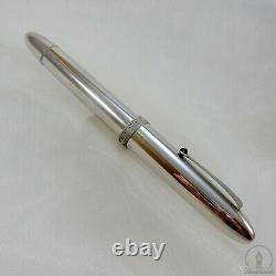 Omas Ogiva 75 Years Special Edition Rhodium Plated Fountain Pen 18K Medium Nib