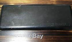 PARKER PEARL & BLACK DUOFOLD CENTENNIAL FOUNTAIN PEN 18k 750. IIIL (1993)