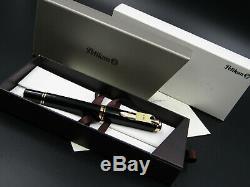 PELIKAN Fountain PEN SOUVERAN M800 OLD LOGO With BLACK & Gold Nib M 18C New Box