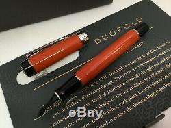 Parker Duofold Centennial Fountain Pen Big Red Special Edition 18k Nib Fine Pt