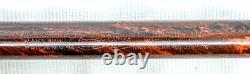 Parker no. 1 mottled red/black hard rubber eyedropper, taper cap, flex nib