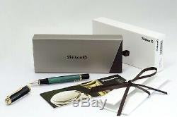 Pelikan M600 Old Style Fountain Pen Pistonfiller Black Green GT 14C M Nib