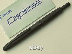 Pilot 18K BLACK NIB VANISHING POINT Capless Fountain Pen, MATT BLACK, F nib